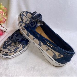 Coach Richelle boat style shoes with logo